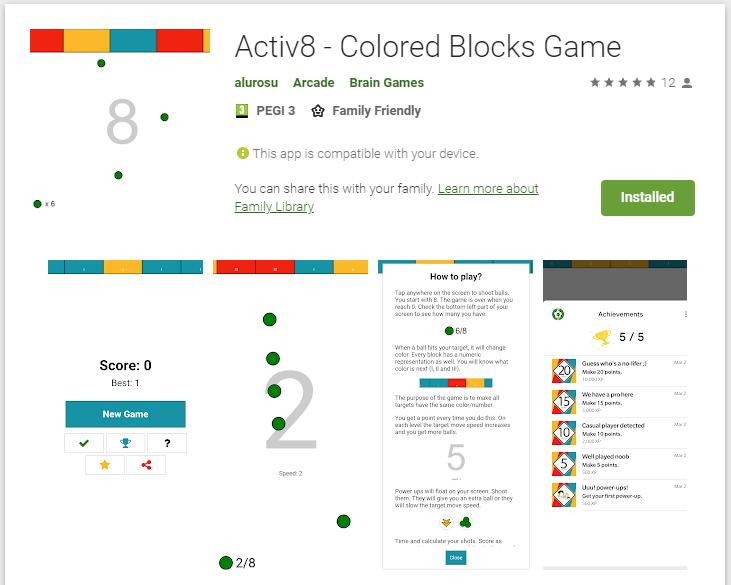 Activ8 - Google Play Store