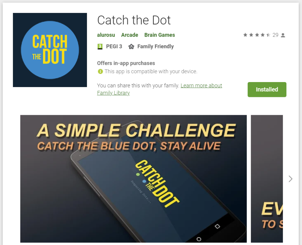 Catch the Dot Android Game Cover