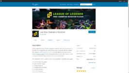 LoL Free Champion Rotation WordPress Plugin